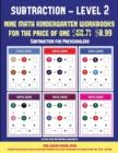 Image for Subtraction for Preschoolers (Kindergarten Subtraction/Taking Away Level 2) : 30 Full Color Preschool/Kindergarten Subtraction Worksheets (Includes 8 Printable Kindergarten PDF Books Worth $60.71)