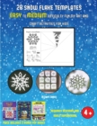 Image for 3D Shape Games (28 snowflake templates - easy to medium difficulty level fun DIY art and craft activities for kids) : Arts and Crafts for Kids