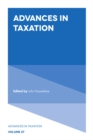 Image for Advances in Taxation