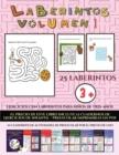 Image for Ejercicios con laberintos para ninos de tres anos (Laberintos - Volumen 1) : (25 fichas imprimibles con laberintos a todo color para ninos de preescolar/infantil)