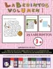 Image for Laberintos faciles (Laberintos - Volumen 1) : (25 fichas imprimibles con laberintos a todo color para ninos de preescolar/infantil)