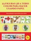 Image for Manualidades imprimibles para ninos (23 Figuras 3D a todo color para hacer usando papel) : Un regalo genial para que los ninos pasen horas de diversion haciendo manualidades con papel.