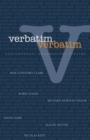 Image for Verbatim, verbatim  : contemporary documentary theatre