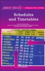 Image for Schedules and timetables