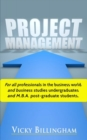 Image for Project management  : how to plan and deliver a successful project
