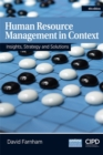 Image for Human resource management in context  : insights, strategy and solutions