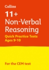 Image for 11+ non-verbal reasoning quick practice tests  : for the CEM testsAge 9-10