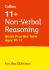 Image for 11+ non-verbal reasoning quick practice tests  : for the CEM testsAge 10-11