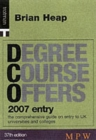 Image for Degree course offers  : 2007 entry : 2007 Entry