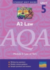 Image for A2 Law AQA : Law of Tort