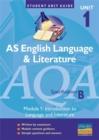 Image for AQA (B) English Language and Literature AS : Introduction to Language and Literature Study