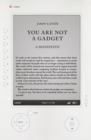 Image for You are not a gadget  : a manifesto