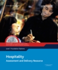 Image for Hospitality  : assessment and delivery resourceLevel 1 foundation diploma