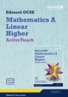 Image for GCSE Maths Edexcel 2010: Spec A Higher ActiveTeach Pack with CDROM