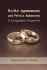 Image for Marital agreements and private autonomy in comparative perspective