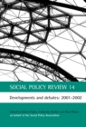 Image for Social Policy Review 14: Developments and debates: 2001-2002