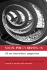 Image for Social Policy Review 15: UK and international perspectives : 55581