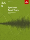 Image for Specimen aural tests  : from 2011: Grades 4 & 5