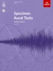 Image for Specimen aural tests  : from 2011: Grade 6