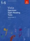 Image for Viola specimen sight-reading tests  : from 2012: ABRSM grades 1-5