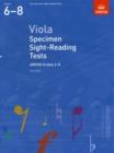 Image for Viola specimen sight-reading tests  : from 2012: ABRSM grades 6-8