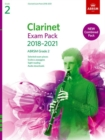 Image for Clarinet Exam Pack 2018-2021, ABRSM Grade 2 : Selected from the 2018-2021 syllabus. Score & Part, Audio Downloads, Scales & Sight-Reading