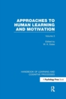 Image for Handbook of learning and cognitive processesVolume 3,: Approaches to human learning and motivation