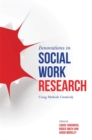 Image for Innovations in social work research  : using methods creatively