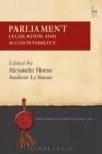 Image for Parliament  : legislation and accountability