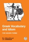 Image for Greek Vocabulary and Idiom