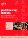 Image for Guidelines for colleges  : recommendations for learning resources