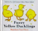 Image for Fuzzy yellow ducklings  : fold-out fun with textures, colours, shapes, animals