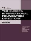 Image for The Europa international foundation directory 2006
