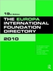 Image for The Europa international foundation directory 2010