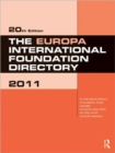 Image for The Europa international foundation directory 2011