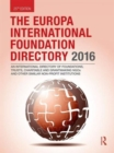 Image for The Europa International Foundation Directory 2016