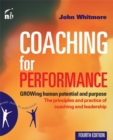 Image for Coaching for performance  : GROWing human potential and purpose