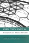 Image for Social policy review14: Developments and debates, 2001-2002