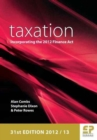 Image for Taxation  : incorporating the Finance Act 2012