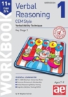 Image for 11+ Verbal Reasoning Year 3/4 CEM Style Workbook 1 : Verbal Ability Technique
