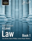 Image for WJEC/Eduqas Law for A Level: Book 1