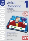 Image for 11+ Verbal Reasoning Year 4/5 CEM Style Workbook 1 : Verbal Ability Technique