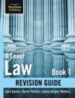Image for WJEC/Eduqas Law for A level Book 1 Revision Guide