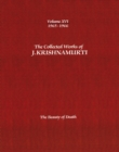 Image for The Collected Works of J.Krishnamurti  - Volume Xvi 1965-1966 : The Beauty of Death