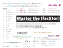 Image for Master the Factor