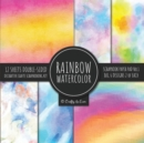 Image for Rainbow Watercolor Scrapbook Paper Pad Vol.1 Decorative Crafts Scrapbooking Kit Collection for Card Making, Origami, Stationary, Decoupage, DIY Handmade Art Projects