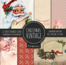 Image for Vintage Christmas Scrapbook Paper Pad 8x8 Scrapbooking Kit for Papercrafts, Cardmaking, DIY Crafts, Holiday Theme, Retro Design