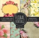 Image for Vintage Floral Scrapbook Paper Pad 8x8 Scrapbooking Kit for Papercrafts, Cardmaking, DIY Crafts, Flower Background, Vintage Design