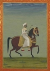 Image for Carnet Blanc, Prince Indien � Cheval, Miniature 18e