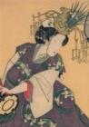 Image for Carnet Blanc, Estampe Femme Au Tambour, Japon 19e